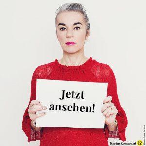 Karin Garzarolli ruft dazu auf, sich die Barbara Karlich-Show mit ihr anzusehen.